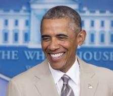 President Barack Obama in a lighter moment.